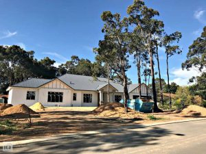home being built in lesmurdie in perth hills.
