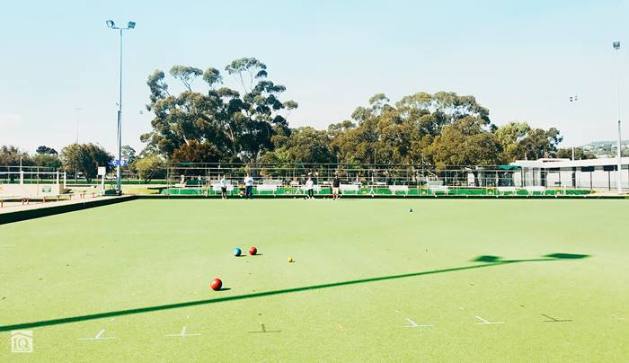 IQ Construction team playing lawn bowls.