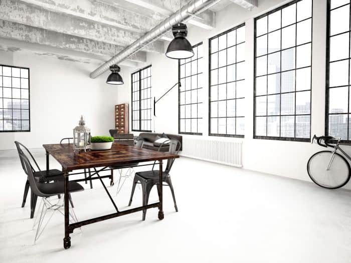 dining room industrial interior design